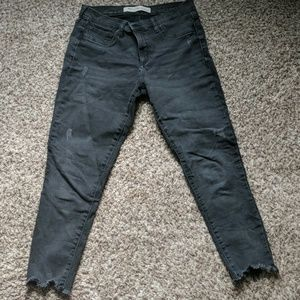 Gap jeans with frayed hem